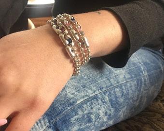 Swarovski Crystal Sterling Chain Bracelet | Wonder Woman | Sterling Beaded Wrap, Swarovski Crystal with Lapis Lazuli Stones, Custom Crystal