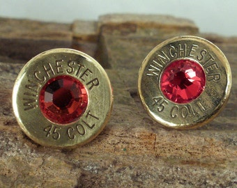 Bullet Jewelry -Red River - Winchester Colt 45 - Ultra Thin - Bullet Earrings