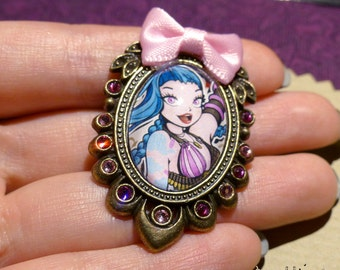 Jinx brooch // League of Legends fanart // lol riot