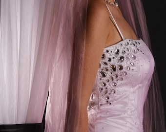 Separate wedding gown by Nicholas Millington with pink effect at the top size 36