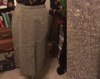 1970's pocketed wool pencil skirt