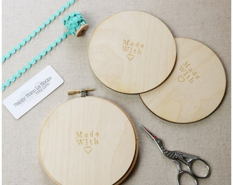 4 inch Wooden Backs For finishing Embroidery Hoops. Pack of 3 Embroidery Hoop Backs. Embroidery Hoop Art. Embroidery Hoop Finishing Tutorial