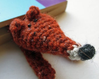 Crochet Pattern for a Squished Fox Bookmark