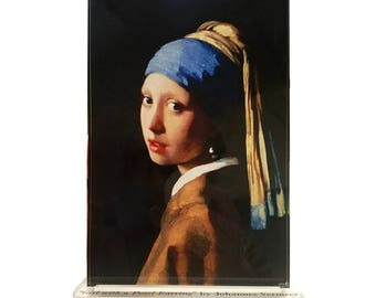 Johannes Vermeer Girl with a Pearl Earring Masters Behind The Glass Clear Acrylic Display