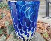 Blue Butterfly Wing Vase,...