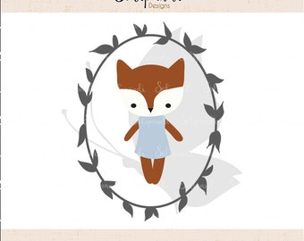 Little Fox - SVG and DXF Cut Files - for Cricut, Silhouette, Die Cut Machines // scrapbooking // paper crafts // solipandi // #142