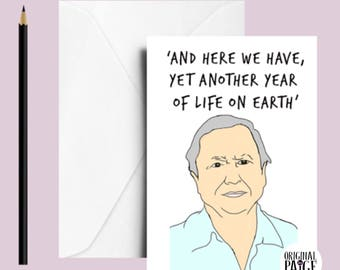 David attenborough card