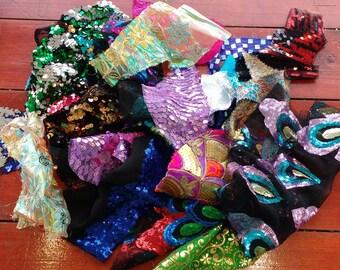 sequin fabric craft bag
