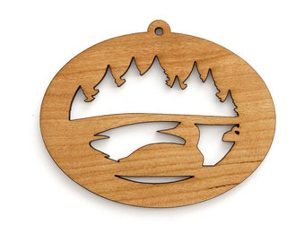Loon Ornament  - Made in the USA with sustainably harvested wood! - Timber Green Woods.