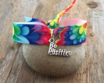 Be Positive Rainbow Burst Charm Bracelet