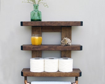 hexagon book shelf wood bathroom shelf geometric shelves rh etsy com wooden bathroom shelves white wooden bathroom shelving unit