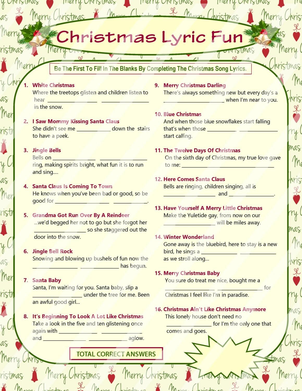 Christmas lyrics game christmas song game christmas carol zoom stopboris Gallery