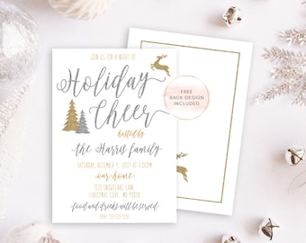 Holiday Party Invitation, Christmas Party Invitation, Christmas Invites, Holiday Invites, Christmas Party, Holiday Party, Holiday Cheer 674
