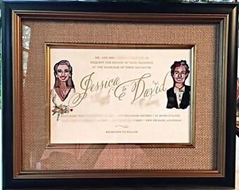 Handpainted Invitations for Wedding Gift Idea