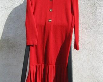 St. John Red Knit Dress