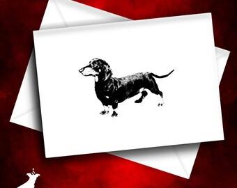 Sausage Dog Note Card