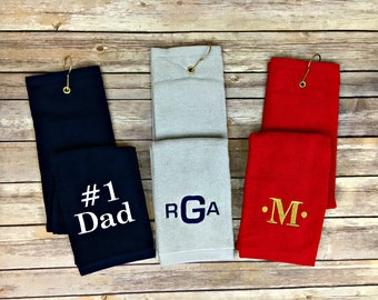 Personalized golf towel, monogrammed golf towel, monogram golf towel, golf towel. golf, towel. fathers day gift, golf gift, gift, father