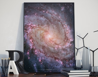Poster of Galaxy M83 - Space - Nasa & Hubble Art - Poster