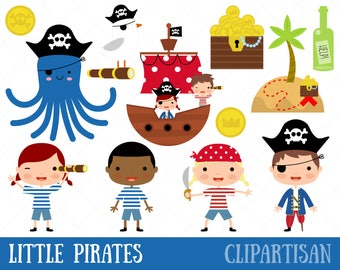 Little Pirates Clipart