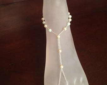 Beaded Pearl Barefoot Sandals