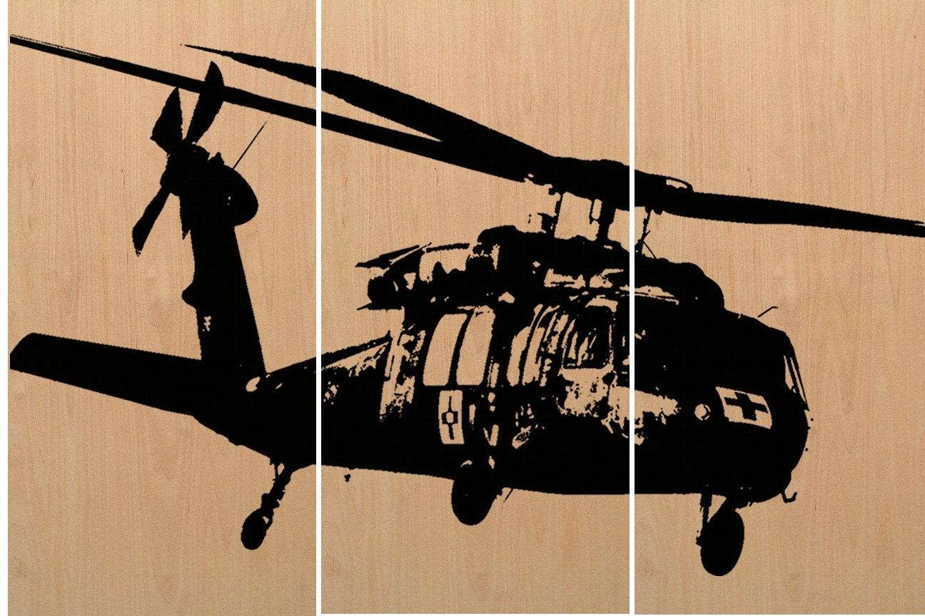 Blackhawk Helicopter Wall Art Vintage Transportation Art