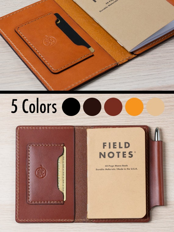 Field Notes Cover / Moleskine Cover With Pen Holder   Wickett & Craig Full Grain Leather / Moleskine Wallet / Minimalist / Personalized by Etsy