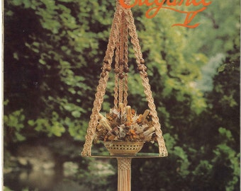 Macramé Elegance V • 1970s Macrame Knots How To Instruction Pattern Book • 70s Vintage Plant Pot Hanger Globe Hangers Knotwork • Retro PDF