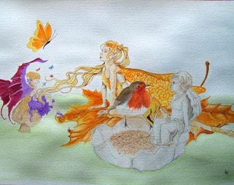 Do you believe in fairies, 'Fantasy' watercolour Giclee print