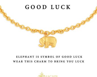Elephant Bracelet Gold. Elephant Charm Bracelet