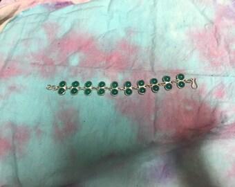 SALE!! Jade sterling silver bracelet