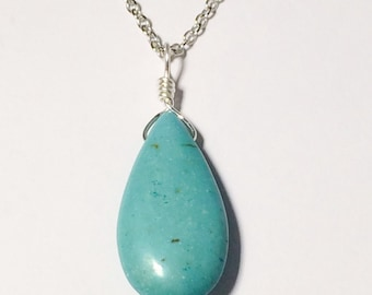 Turquoise Magnesite Necklace Mothers Day Gift Bridesmaid Jewelry Friendship Gift Mom Girlfriend Sister Women's Gift