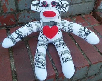 Music Lovers Sock Monkey
