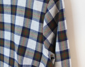 Plaid flannel gathered back top
