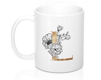 Personalized Letter 11Oz  15Oz Mugs