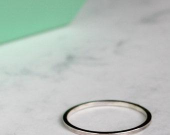Square Stacking Ring - Sterling Silver | simple silver ring | geometric ring | modern ring | square midi ring | minimal ring | skinny ring