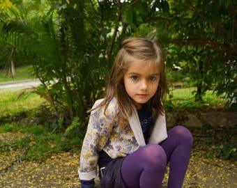 Double face crop coat,pink floral coat,crop coat,crop jacket,girls jacket,toddler coat,