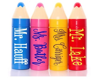 Personalized Crayon Stainless Steel Tumbler