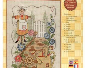 Cross Stitch Kit Garden Gate Angel by Janlynn designed by Diane Arthurs