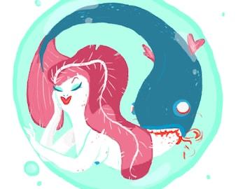 8X10 Print - Mermaid to be