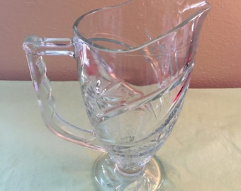 Cut Glass Juice Pitcher