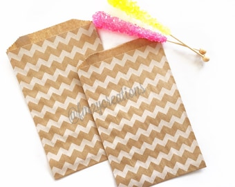 Kraft Favor Bags | Kraft Chevron Favor Bags | Party Favor Bags (5x7) | Popcorn bags | Chevron Favor Bags | Carnival Party Favors | Baseball
