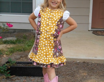 Huge Sale ... Girls Jumper PDF Sewing Pattern ... Fauna Color Block Jumper ... Girls Dress Pattern