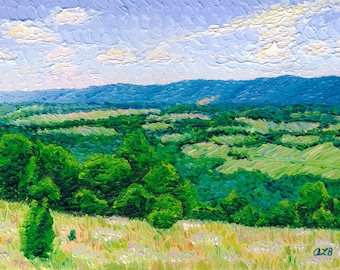 Tennessee Valley, 6 x 12 in., giclee print