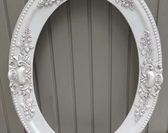 Antique White Oval Picture Frame 14x20 14 X 20