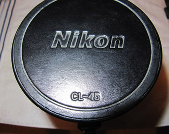Vintage Genuine Nikon CL-45 hard lens case New Old Stock Free Shipping In North America