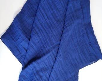 Muslin Swaddle Blanket. Double gauze blanket. Navy blue muslin blanket. X-large blanket