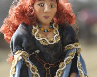 OOAK hand sculpted Miniature Doll 1/12th scale Princess Art Doll