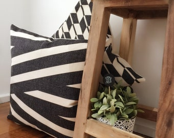 Lines and More Lines | Black and White Lines Pattern | Retro Modern Simple Cushion Cover | Simple Decorative Pillow Cover