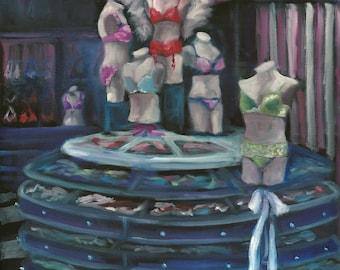 Inspiration, oil painting, landscape painting, lingerie art, original art