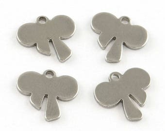 10 charms shaped bow knot charm stainless steel